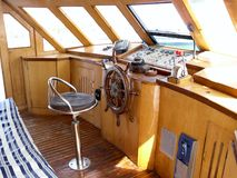 Puente del capitán del barco de mar Fotografía de archivo