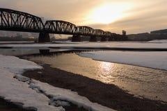 Puente del carril, río de Fraser, príncipe George Fotos de archivo libres de regalías