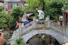 Puente del chino tradicional Imagen de archivo libre de regalías