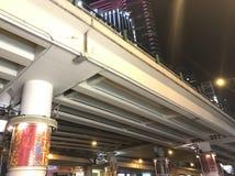 Puente del cuello del ganso, bahía del terraplén, Hong Kong Island Imagen de archivo