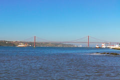 Puente del 25 de abril, Lisboa Fotografía de archivo