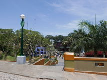 Puente del distrito de Barranco de los suspiros y de los jardines, Lima Imagen de archivo