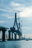 Puente del en Cádiz de la constitución Foto de archivo libre de regalías