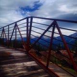 Puente del esquí Imágenes de archivo libres de regalías