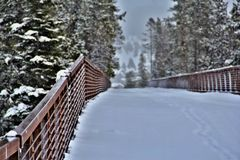 Puente del esquí Imagen de archivo libre de regalías