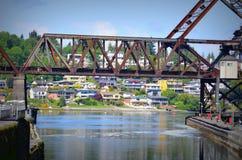 Puente del ferrocarril Imagen de archivo