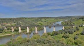 Puente del ferrocarril Imagen de archivo libre de regalías