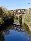 Puente del ferrocarril de Evanston-Wilmette Imagen de archivo libre de regalías