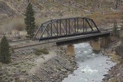 Puente del ferrocarril sobre el Truckee fotos de archivo libres de regalías