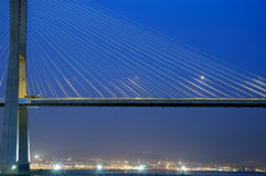 Puente del Gama de Vasco DA, el puente más grande de Europa Foto de archivo libre de regalías