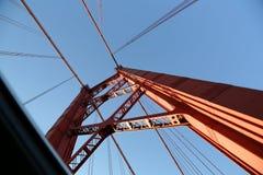 Puente del Gama de Vasco DA en la oscuridad Imagen de archivo