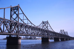 Puente del hierro fotografía de archivo