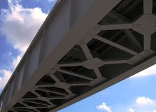 Puente del hierro Imágenes de archivo libres de regalías