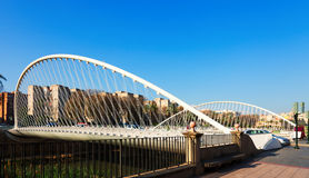 Puente del Hospital over Segura. Murcia Stock Photos