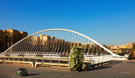 Puente del Hospital over Segura river. Murcia Stock Images