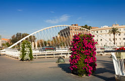 Puente del Hospital over Segura river in  Murcia, Spain Stock Photography