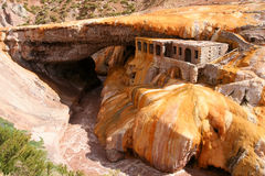 Puente del Inca. Natural stone bridge Puente del Inca above Rio Mendoza in Argentina Stock Photos