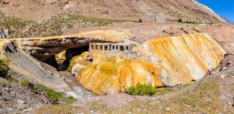 Puente del Inca, The Andes around Mendoza, Argentina Royalty Free Stock Photo