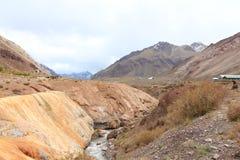 Puente del Inca, Cordillera DE los de Andes Stock Foto's