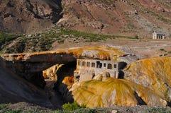 Puente del inca (de Brug van Inca). Argentinië Stock Afbeeldingen