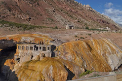 Puente del inca (de Brug van Inca). Argentinië Stock Fotografie