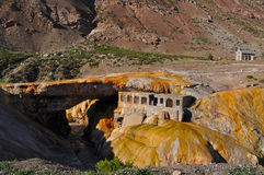 Puente Del inca (die Brücke des Inkas). Argentinien Stockbilder