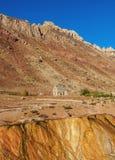 Puente del Inca i det Mendoza landskapet, Argentina Arkivfoton