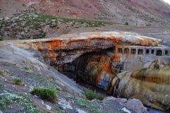 Puente del inca (inca'sens bro). Argentina Royaltyfri Foto
