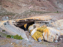 Puente del Inca, Incasbron Royaltyfri Fotografi