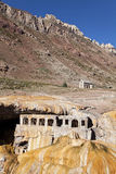 Puente del inca old spa. At the argentinian Andes Stock Photos