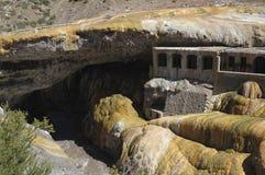 Puente del Inca sopra il fiume Fotografia Stock Libera da Diritti