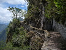 Puente del inka at machu picchu Royalty Free Stock Images