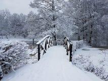 Puente del invierno fotografía de archivo