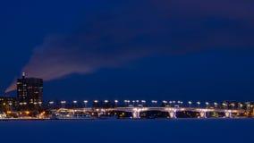 Puente del invierno Fotos de archivo libres de regalías