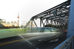 Puente del jardín de la Federación de Shangai Imagenes de archivo