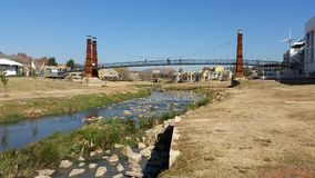 Puente del lago Bruma Imágenes de archivo libres de regalías