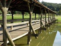 Puente del lago park de Curitiba Fotos de archivo libres de regalías