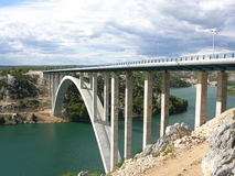 Puente del mar Foto de archivo libre de regalías