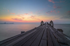 Puente del mar de Tailandia viejo Imagen de archivo