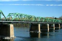 Puente del metal sobre el río de Delaware Fotografía de archivo
