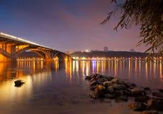 Puente del metro de Kyiv Fotos de archivo libres de regalías