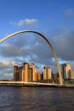 Puente del milenio de Gateshead Imágenes de archivo libres de regalías