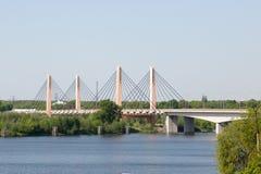 Puente del milenio del Wroclaw Imagen de archivo libre de regalías