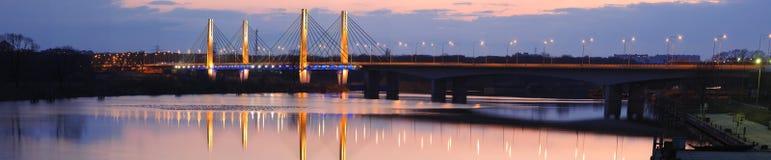 Puente del milenio en el Wroclaw Foto de archivo libre de regalías