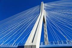 Puente del milenio en el Wroclaw Fotos de archivo