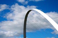 Puente del milenio, Newcastle Imagen de archivo libre de regalías