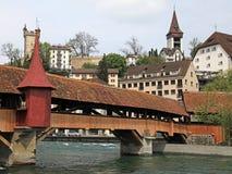Puente del molino, Alfalfa, Suiza Fotografía de archivo libre de regalías