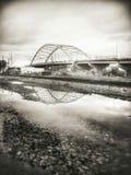 Puente del monumento de Amelia Earhart fotografía de archivo