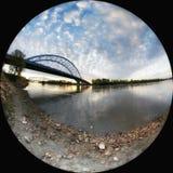 Puente del monumento de Amelia Earhart imagenes de archivo