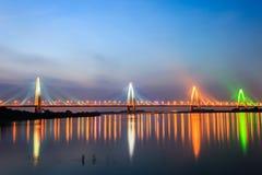 Puente del moreno de Nhat en Hanoi, Vietnam Imagen de archivo